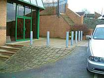 Heavy duty galvanised bollards