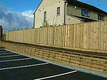 1800mm acoustic wood fencing using pressure treated timber